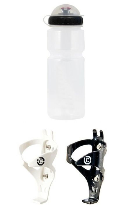 BPA Free Bike Water / Cycle Drinks Bottle with Cap 800ml + Clarks Cage